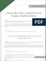 Estilos de Vida de La Mujer Adiulta Joven