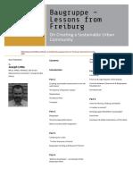 Little 2007 Baugruppe Lessons From Freiburg