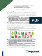 Cartilla de Recomendaciones en Materia de SST
