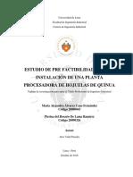 Factibilidad Para La Instalación de Una Planta Procesadora de Hojuelas de Quinua