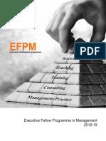 EFPM Brochure 2018-19