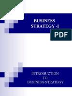 Business Strategy -I