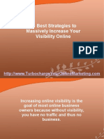 10 Best Strategies to Massively Increase Your Visibility Online