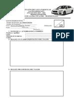 Hoja de Informe de Practica Pasantias Terceros de Bachillerato 2017-2018