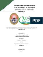 Yucragomez, Zapana Oquendo-métodos de Extracción de Cobre