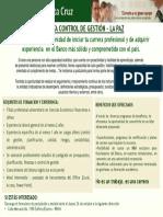 Analista Control de Gestión - La Paz