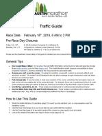 Austin Marathon Traffic Guide 2018