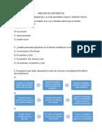 Análisis de Historietas. Grado 10