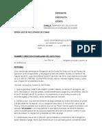 Demanda de Jecucion de Obligacion de Acta de Conciliacion