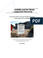 TZW - Sustainability and the Waste Hierarchy (2003)