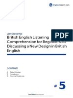 05 Discussing a New Design in British Englih