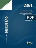 TD_IPEA_O Campo de Pesquisa Da Economia Solidária_SILVA_2018