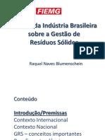 A Vis o Da Ind Stria Brasileira Sobre a Gest o de RS CNI