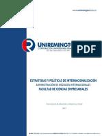 Estrategias y Politicas de Internacionalizacion-2017