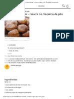Receita de Sonhos Recheados - Receita de Máquina de Pão - Receitas Do Allrecipes Brasil