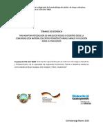 TdR Consultoría Adaptación de Metodología de Análisis de Riesgo a Desastres(Material Pedagógico.metodologico)