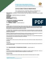 ESPECIFICACIONES TECNICAS RESERVORIO
