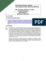 MPRWA Special Closed Session Agenda 02-15-18