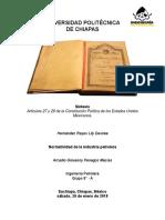 Síntesis- HISTORIA DE LA INDUSTRIA PETROLERA MEXICANA