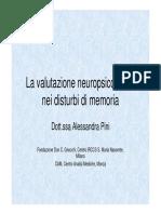 PresentazioneDrssaPini - Test Di Memoria