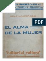 Lombroso, Gina El Alma de La Mujer