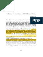 Chun Sobre El Debate Derrida Foucault