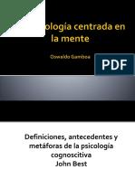 1 - La Psicología Cognitiva