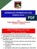 Kebijakan Gizi 2014