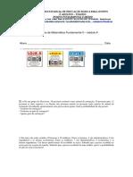 Avaliação de Matemática Fundamental II Modulo 6