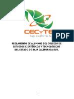Reglamento de Alumnos 2015 CECYTE