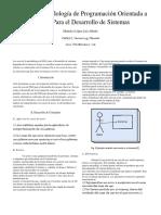 Investigacion Uso de La Metodología de Programación Orientada a Objetos Para El Desarrollo de Sistemas