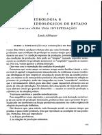 ALTHUSSER, Louis. Ideologia e Aparelhos Ideológicos de Estado, Notas Para Uma Investigação