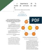 Ventajas e Importancia de La Administración de Servicios en Una Institución