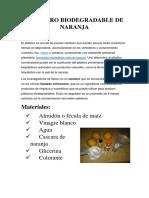Polímero Biodegradable de Naranja
