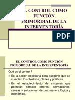 4. El Control Como Función Primordial de La Interventoría
