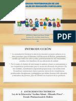 Competencias Profesionales de Los Profesionales en Educación Parvularia