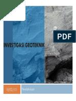 1. Investigasi Geoteknik-Pendahuluan
