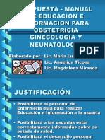 Propuesta - Manual de Educacion e Informacion Para