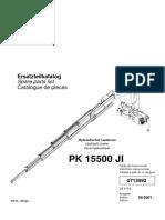 PK15500 Manual de Partes