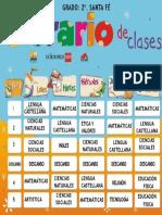 Horario Clases Marcela