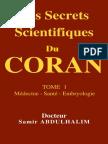 Les Secrets Scientifiques Du CORAN TOME 1 Médecine Santé Embryologie