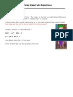 3-5 Solving Quadratic Equations