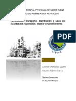 Operación, Diseño y Mantenimiento. Transporte de Gas
