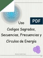 Uso Codigos Sagrados, Secuencias, Frecuencias y Círculos de Energía 6-1-1