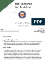 Ppt_asas 2_tipologi Bangunan_la Ande Sabarua_e1b1 16050