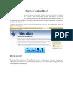 Introducción VirtualBox