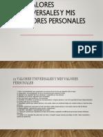 12 Valores Universales y Mis Valores Personales