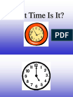 What Time is It Telling Time to the Hour and Halfhour