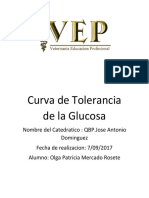Curva de Tolerancia de La Glucosa