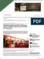 Abogados Podrán Acceder y Descargar Más de 100,000 Sentencias Del Tribunal Constitucional — La Ley - El Ángulo Legal de La Noticia
